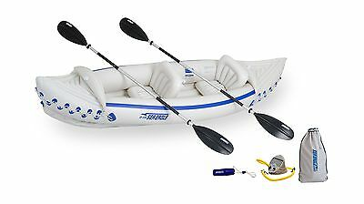 Sea Eagle 330 Inflatable Kayak with Deluxe Package New