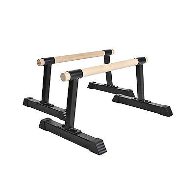 Ultimate Body Press 12-Inch Tall Wood Bar Parallettes New