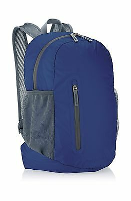 AmazonBasics Ultralight Packable Day Pack - Navy Blue 25L New