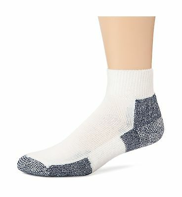 Thorlo Men's Socks Running Mini Crew Sock White/navy 13 New