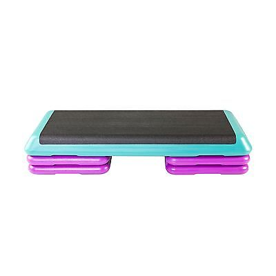 The Step F1005 Original Health Club Step with DVD (Teal/Purple) New