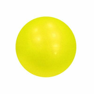 YogaDirect Weighted Single Pilates Ball Yellow 3-Pound/1/4-Inch New