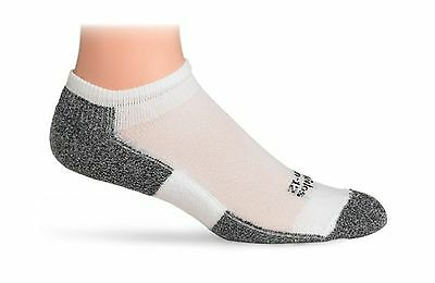 Thorlo Men's Socks Lite Running Micro-Mini Crew Sock White/Black 12 New
