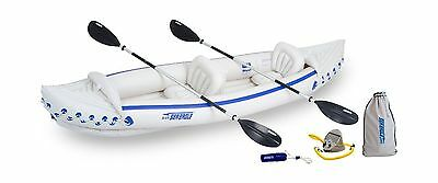 Sea Eagle SE370 Inflatable Kayak with Deluxe Package New