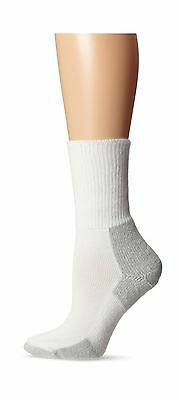 Men's - Women's Running Thick Padded Crew Socks White/Platinum New