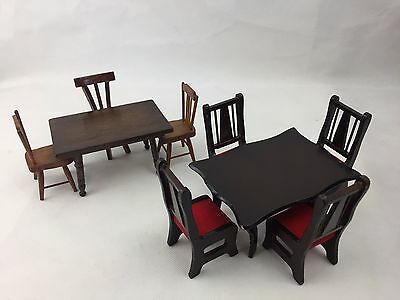 Miniature - Dolls House - Furniture - Table and Chairs -