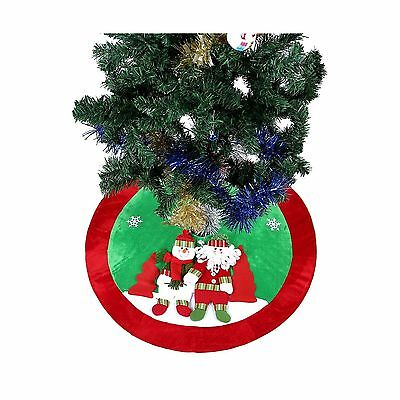 Ohuhu 36 Inch Santa Claus and Snowman and Christmas Tree Skirt New