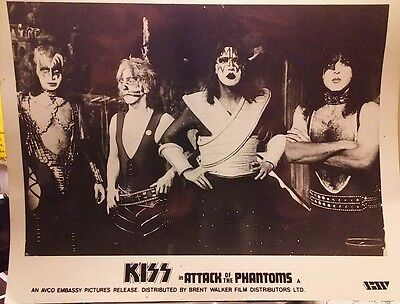 Kiss Attack of the Phantoms 8x10 B&W glossy photo picture. B40