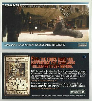 Star Wars Trilogy Special Edition - Promo Chase Card # P2 - 1996 Topps - NM