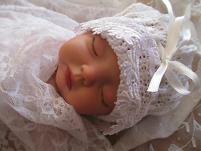 Handmade Sculpted Cap To Suit Infant 0-3 Months Or Reborn Doll