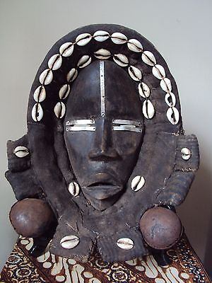 SALE - WAS $289 FINE LARGE DAN MASK Headdress African Carving  + FREE SHIPPING!!