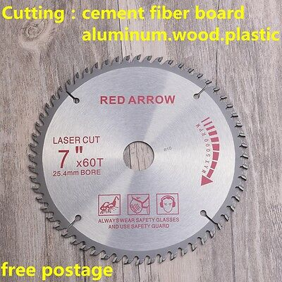 "Circular Saw Blade 180mm 7""X30X60T Timber Wood Aluminium Alloy Plastic Cut wood"