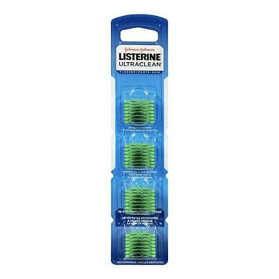 3x pack 28 = 84 Listerine Ultra Clean Access Flosser Mint Refill Heads