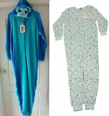 Primark All In One Sleepsuit Fleece Dragonfly Tinkerbell Onesy Girls Women Teens