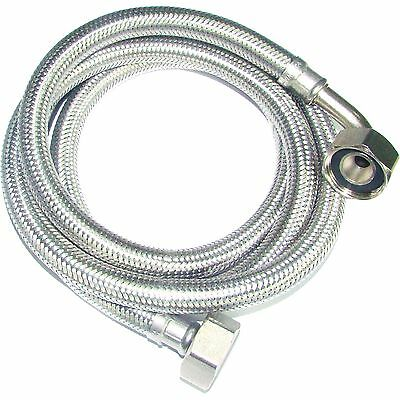 2M Stainless Washing Machine Water Inlet Hose Cold & Hot Universal Fit Most
