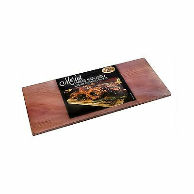 Wine Infused Grilling Plank Merlot Pack of 2 New
