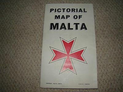 Pictorial Map of The Maltese Islands