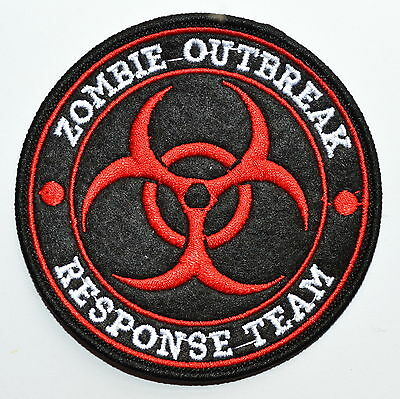 ZOMBIE HUNTER OUTBREAK RESPONSE TEAM BIOHAZARD TACTICAL LIME GREEN HOOK PATCH