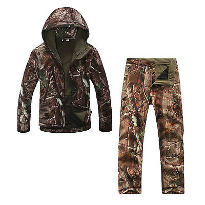 TAD Camouflage Outdoors Waterproof Hunting Clothes Sets Camo Tree L H2K8