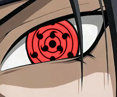 NARUTO Sasuke 9-Tomoe Sharingan Eye 2pcs COSPLAY ACCESSORY NEW