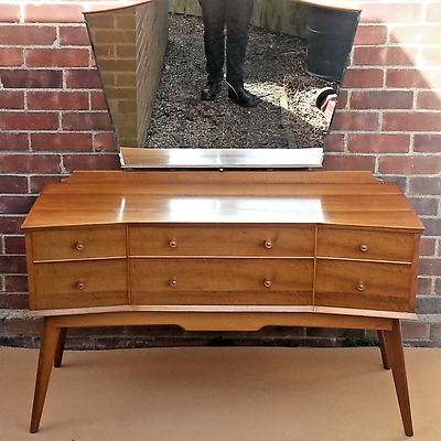 ALFRED COX mid 20th century 1950's DRESSING TABLE IN WALNUT SOLD BY HEALS