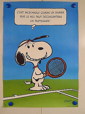 AFFICHE ANCIENNE / Old poster - VINTAGE - SCHULTZ CHARLES MONROE - SNOOPY - 1958