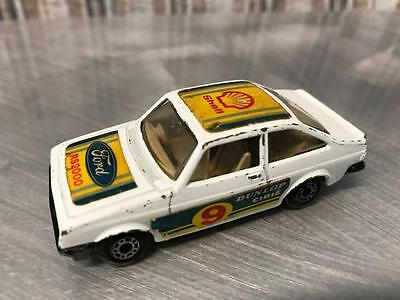 VINTAGE 1970s FORD ESCORT 2000 MATCHBOX DIECAST RACE CAR RALLY ? SHELL FUEL OIL