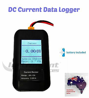 Digital DC Current Data Logger Amplitude Amp Datalogger, -3A to +3A range