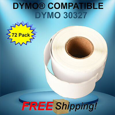 Dymo® Compatible 30327 Shipping 72 Rolls White File Folder Barcode JUMBO Labels