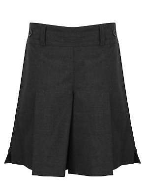 Girls School Skorts Culottes Short / Skirt Bhs Grey 4-12 Years Brand New Quality