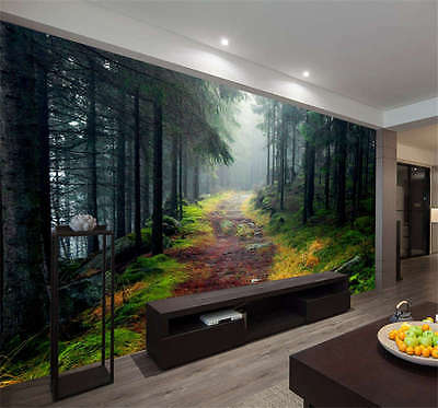 Norwegian Forest Nature Full Wall Mural Photo Wallpaper Print Kids Home 3D Decal