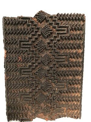 Vintage Hand Carved Wooden Textile Printing Block Made In INDIA