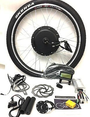 "26"" wheel 48v 1000W front wheel electric bike conversion kit with KT LCD3"