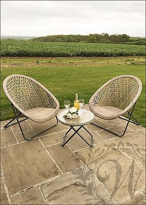 Garden Furniture Table and Chairs Patio Set Synthetic Rattan Grey Lounge Seats