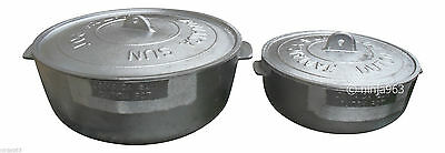 Set of 2 Jamaica Sun Caribbean Dutch Pot (1 Large + 1 Small)
