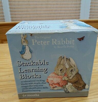Peter Rabbit Stacking Alphabet Blocks/Cubes