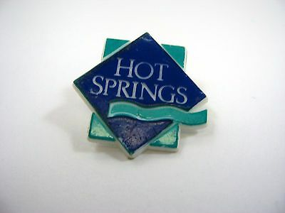 Vintage Collectible Pin: Hot Springs
