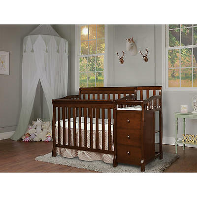 Dream On Me Jayden 4-in-1 Mini Convertible Crib and Changer - Espresso