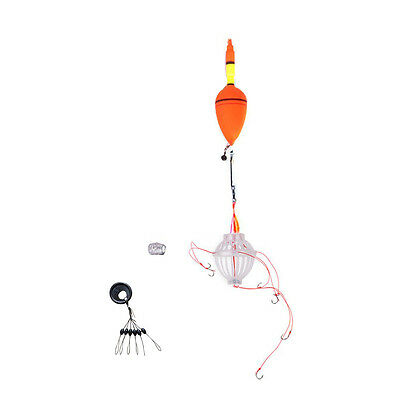 Sea Monster fishing float set with six strong hooks + Fishing Bobber D5L9
