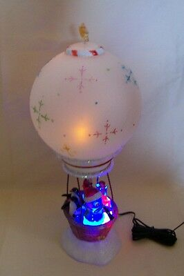 JC Penney Home Collection Lighted Acrylic Hot Air Balloon Snowman Penguins