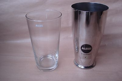Alessi Cocktail Shaker Stainless Steel Boston  Inox 18/10 Design Ettore Sottsass
