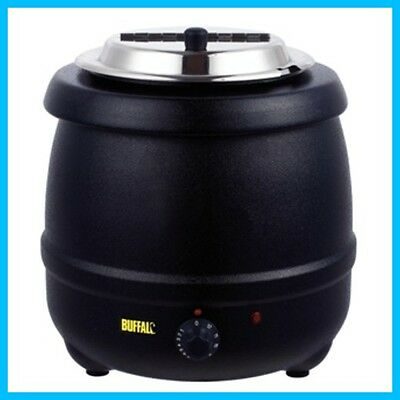 Buffalo Soup Kettle 10ltr Black - Great For Soup, Curry, Stew, Mulled Wine Etc