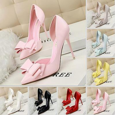 UK Womens Pointed Toe Ankle Shoes Slim Strappy Pumps High Heels Hollow Sandals