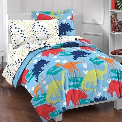 Dream Factory Dinosaur Bed In A Bag Bedding Set Twin