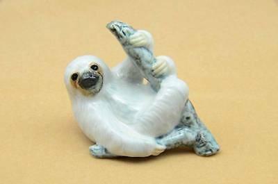 New  Amazing White Sloth On Branch Figurine So Adorable *mint *