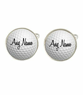 Personalised Golf Ball Any Name Mens Cufflinks Birthday Fathers Day Gift c331
