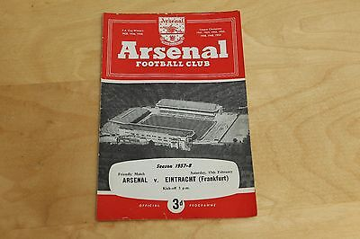 Arsenal v Eintracht Frankfurt - Friendly Match - 15th February 1958