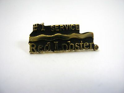 Vintage Collectible Pin: Red Lobster Restaurant #1 Service