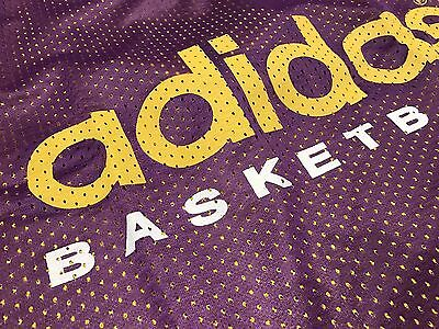New Old Stock Vintage Adidas Basketball Jersey Vest Reversible XL Lakers