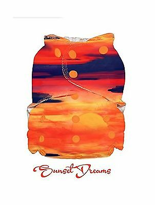 1 Easy Peasies One Size Cloth Diaper Pocket Cover (Sunset Dreams) Best Se... New
